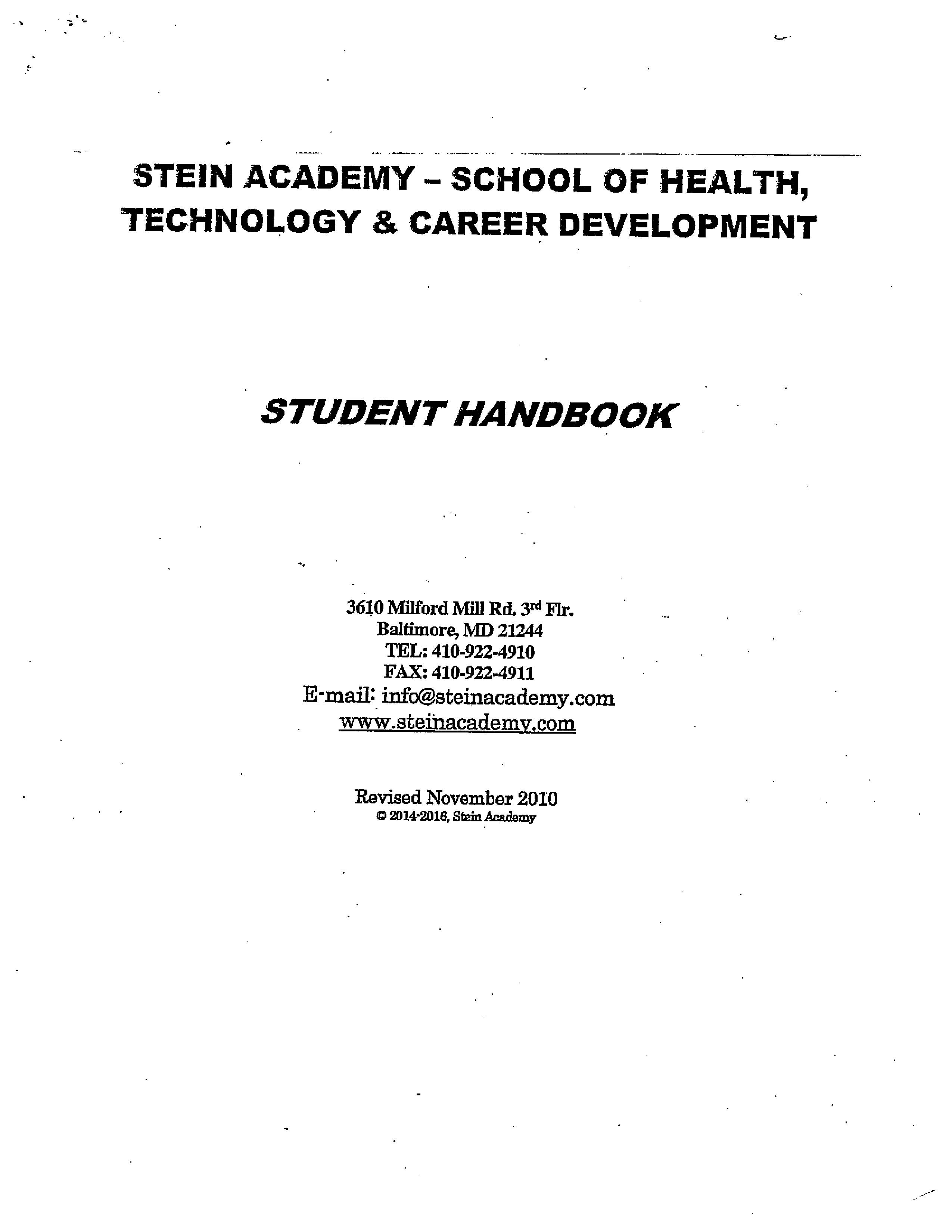 Md Admissions Requirements: Student Handbook